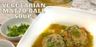 Easy Vegetarian Matzo Ball Soup