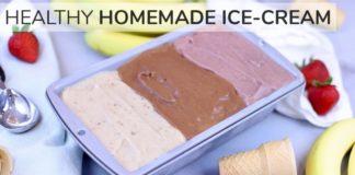 HOMEMADE ICE CREAM RECIPE | easy, healthy neapolitan ice cream