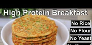 High Protein Breakfast / Healthy Breakfast recipe with 1/2 cup Oats /ASMR Cooking