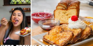 KETO FRENCH TOAST WITH HOMEMADE KETO BREAD! Quick, Easy, Simple, & Delicious Keto Recipe
