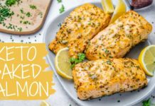 Keto Baked Salmon Recipe – How To Make Salmon Fillet In The Oven – Blondelish