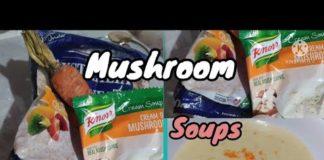Mushroom soups with carrot and egg recipe/Lan Pamolino