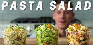 PASTA SALAD 3 WAYS (Literally The Best Pasta Salads I've Ever Had)