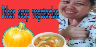 Pamkin vegetarian  , soup, (ms queen v)
