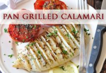 Pan Grilled Calamari - Healthy Recipe for Grilled Squid