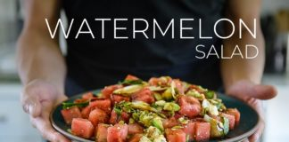 SUMMER ISN'T COMPLETE WITHOUT WATERMELON   QUICK SALAD RECIPE!