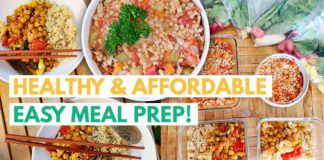 CHEAP EASY VEGAN MEAL PREP TO GET BACK ON TRACK & GET FIT