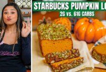 EASY STARBUCKS LOAF COPYCAT! 2g vs 61g CARBS! How to Make Keto Pumpkin Bread