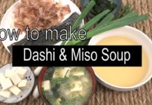 How to make Dashi (Japanese soup stock) and Miso soup.  step by step