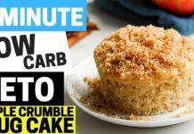 Keto Apple Crumble Cake 4 NET CARBS | Low Carb, Sugar Free, & Gluten Free Apple Crumble Cake