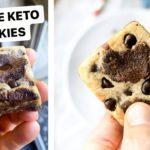 Keto Brookies In 5 Minutes | Gluten Free, Sugar Free, Healthy Cookie Brownie Bars