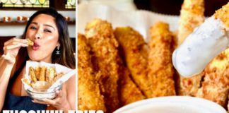 ONE CARB KETO ZUCCHINI FRIES! How To Make Zucchini Fries Recipe