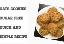 Oats Cookies-Sugar free- Quick and Simple Recipe