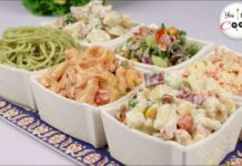 Salad Bar Restaurant Style ❗ 6 Different Salads by (YES I CAN COOK)
