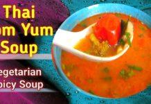 Thai Tom Yum Soup/Vegetarian Spicy Soup