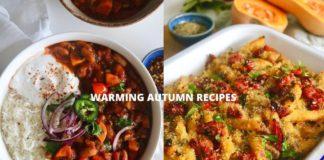 VEGAN COZY WARMING FALL RECIPES - Creamy butternut squash pasta bake + Bean chilli